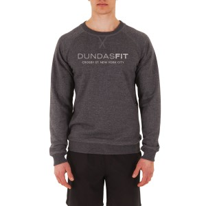 DundasFit The Crosby Logo Print Mens Training Sweater - Charcoal