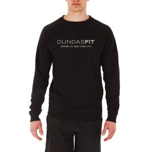 DundasFit The Crosby Logo Print Mens Training Sweater - Black